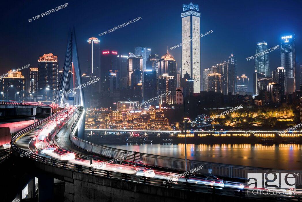 Stock Photo: night of Chongqing.