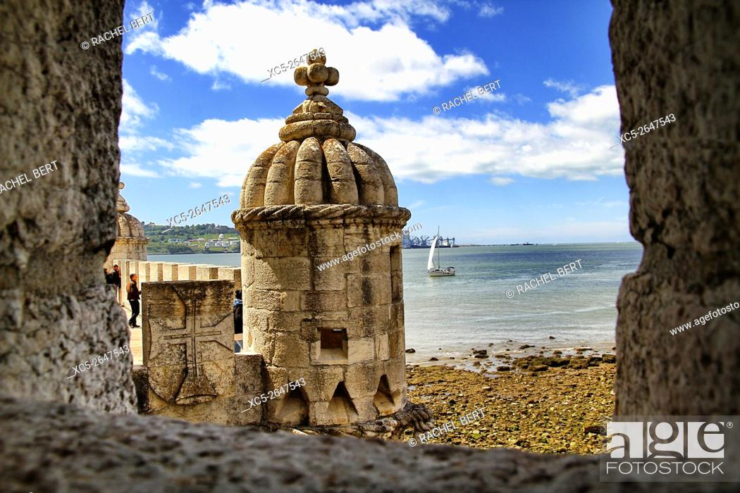 Stock Photo: Tower of Belem, Santa Maria de Belem, Lisbon, Portugal.