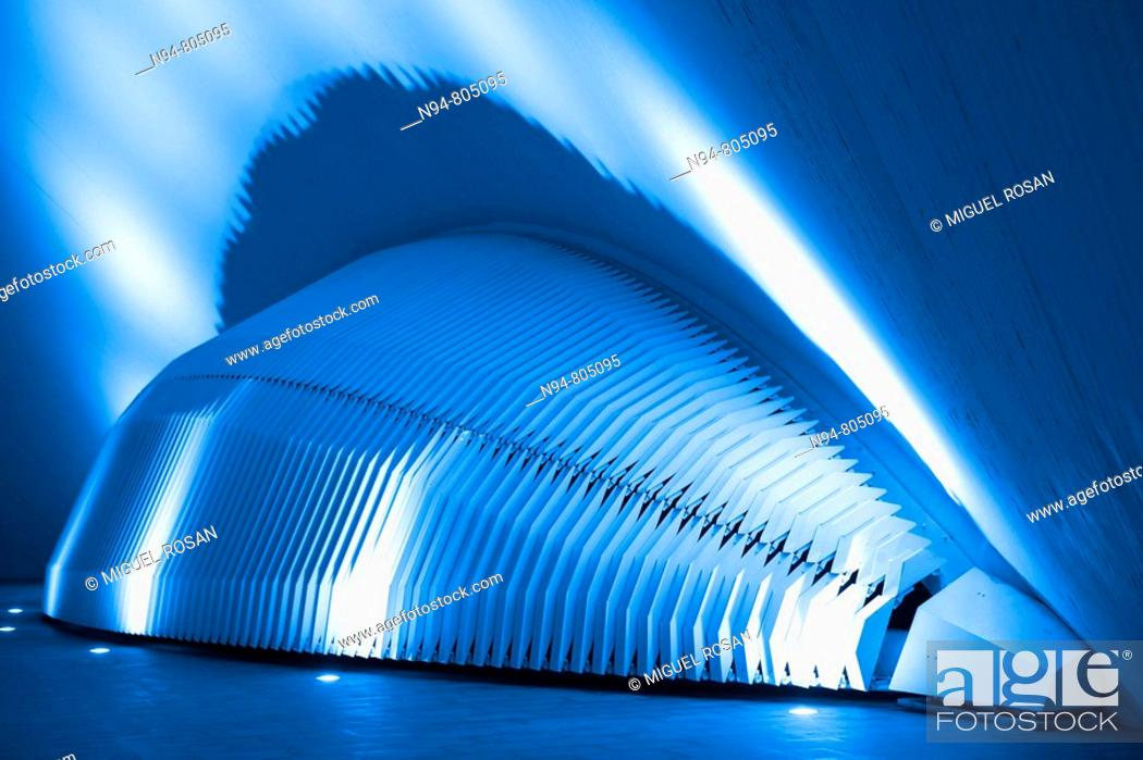 Stock Photo: Architectural detail, City of Arts and Sciences, Valencia, Spain.