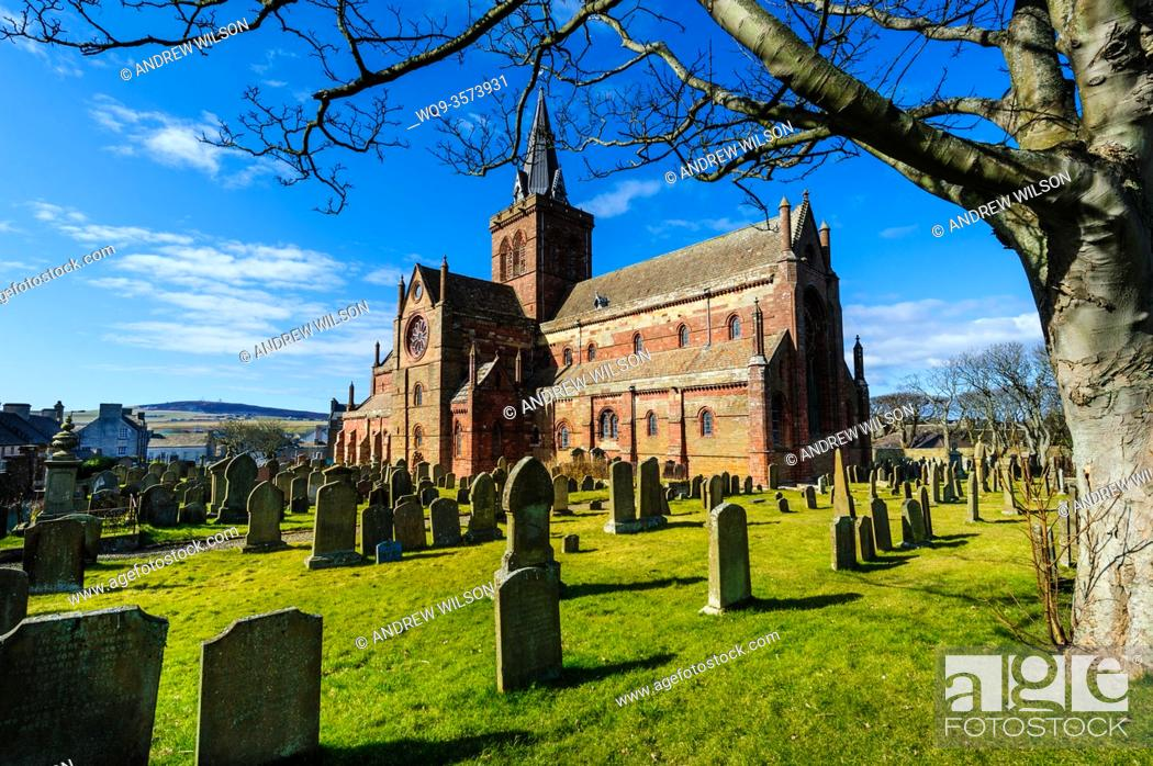 Stock Photo: St Magnus Cathedral - Britain's most northerly Cathedral.
