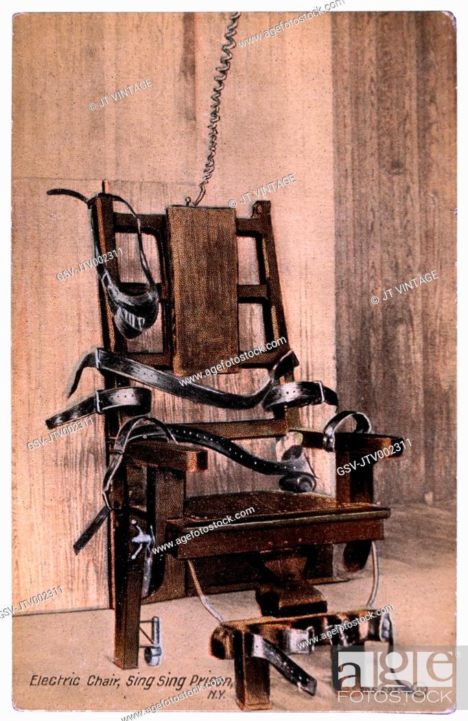 Imagen: Electric Chair, Sing Sing Prison, New York, USA, Circa 1900.
