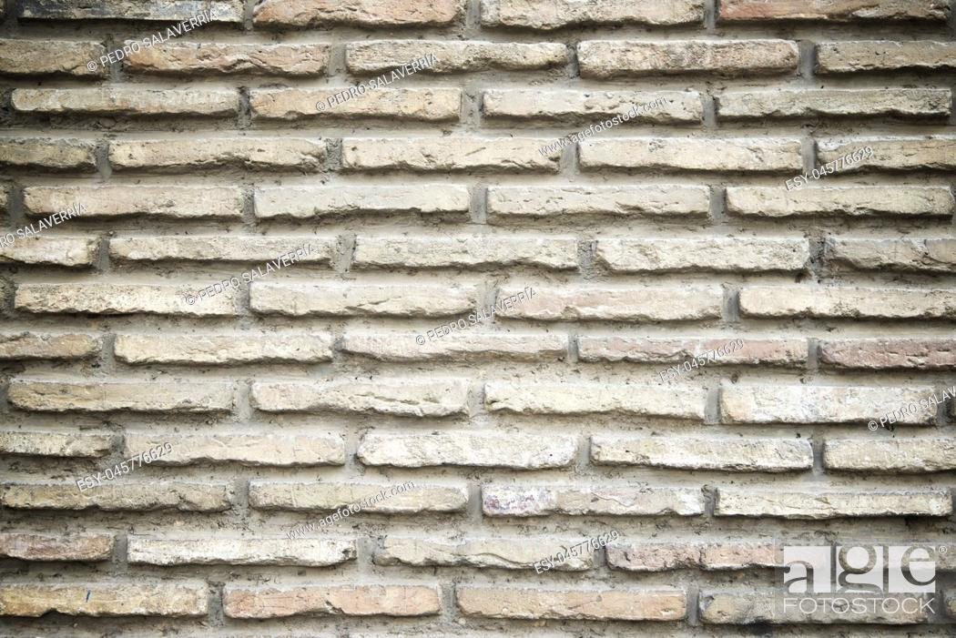 Stock Photo: Brick wall background at high resolution.