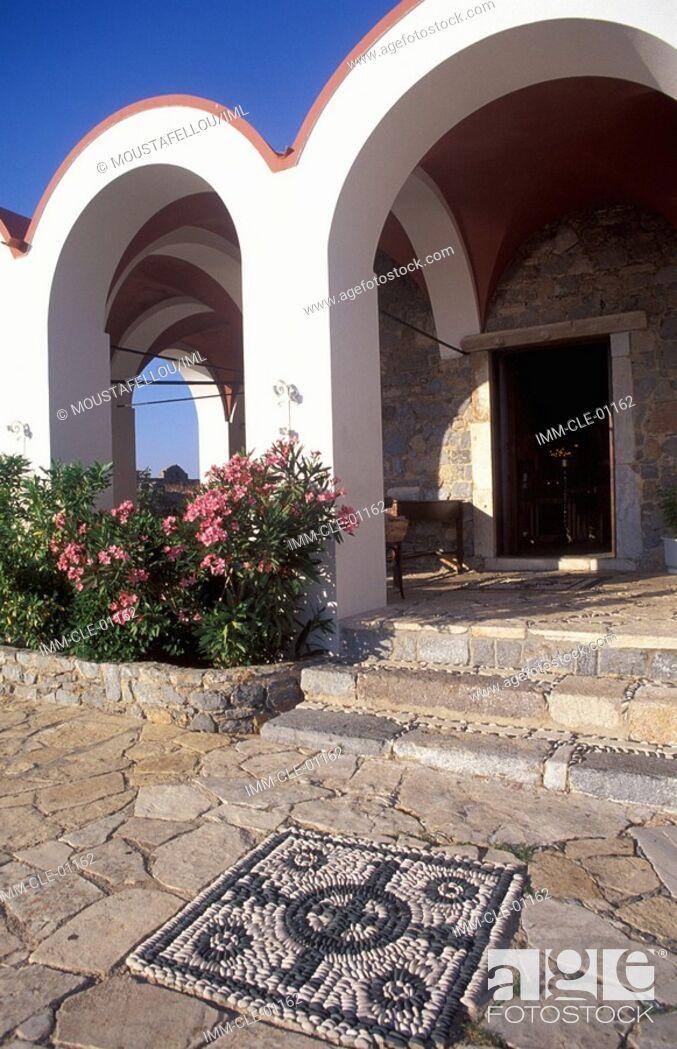Stock Photo: Virgin Mary's Castle, exterior view , Leros, Dodecanese, Greece, Europe.