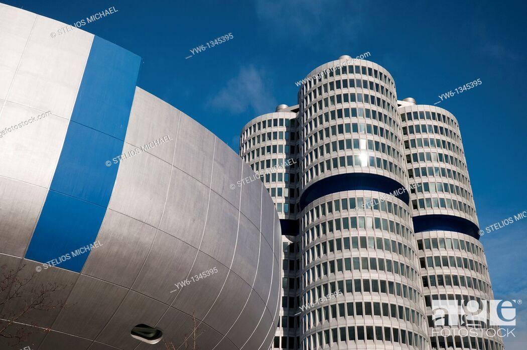 Stock Photo: BMW Headquarters in Munich,Germany.