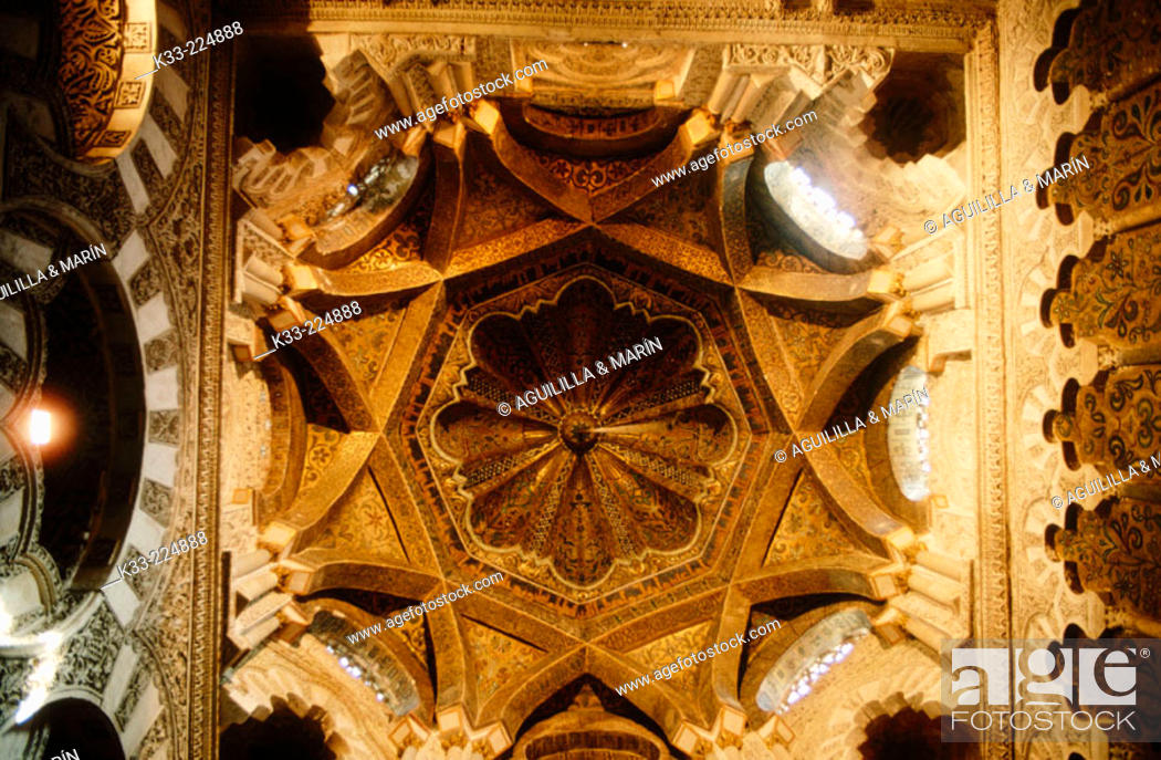 Stock Photo: Vault in the Great Mosque of Cordoba. Andalusia. Spain.