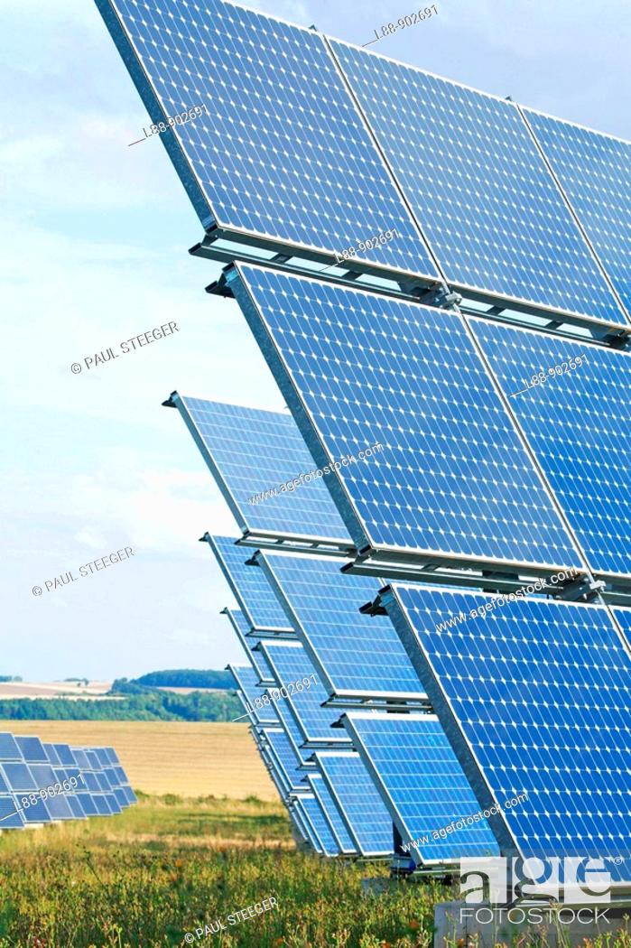 Stock Photo: Photovoltaic energy.