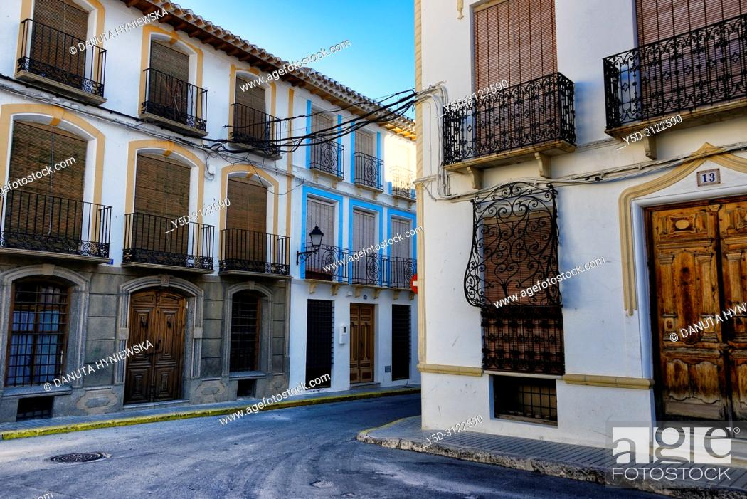 Stock Photo: Plaza Mayor, historic part of city of Galera near Baza, mountainous region of northern Andalusia, between the Sierra Nevada and the Sierra de Castril.