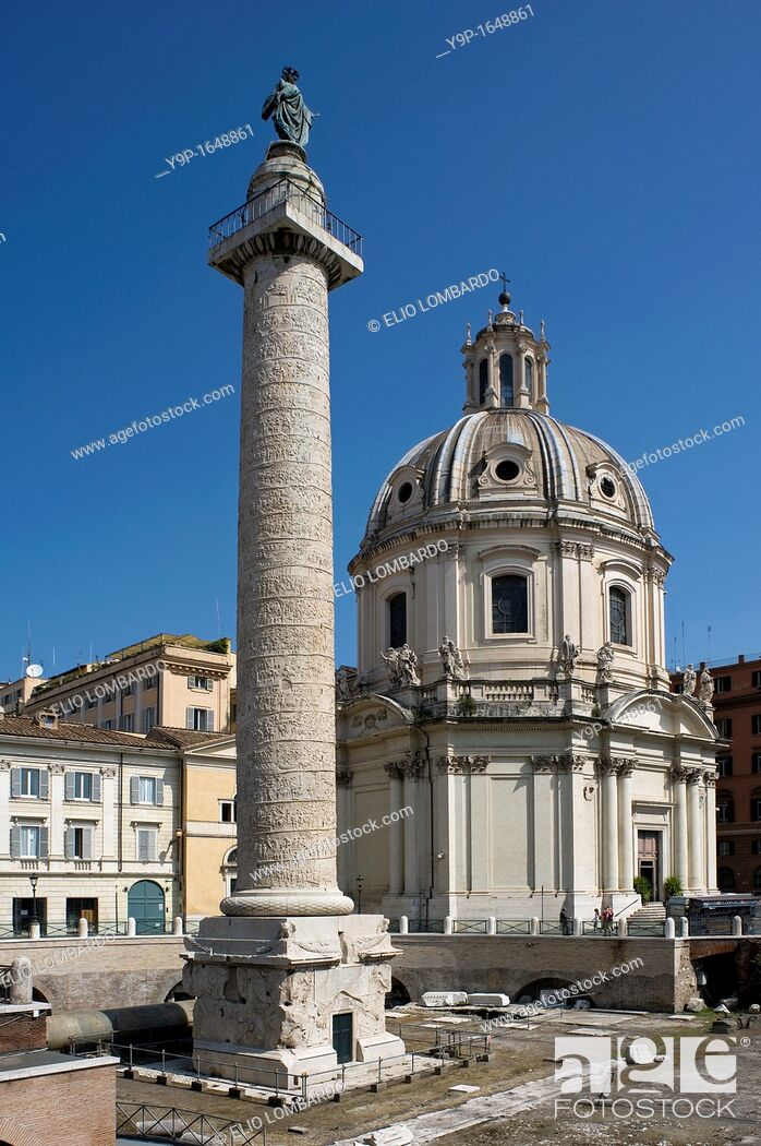 Stock Photo: Trajan's Column, Trajan's Forum, Rome, Lazio, Italy.