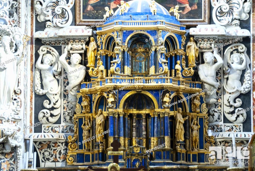 Imagen: Church Santa Maria dell'Ammiraglio detta la Martorana, The Major Altar, Italy, Sicily, Palermo.