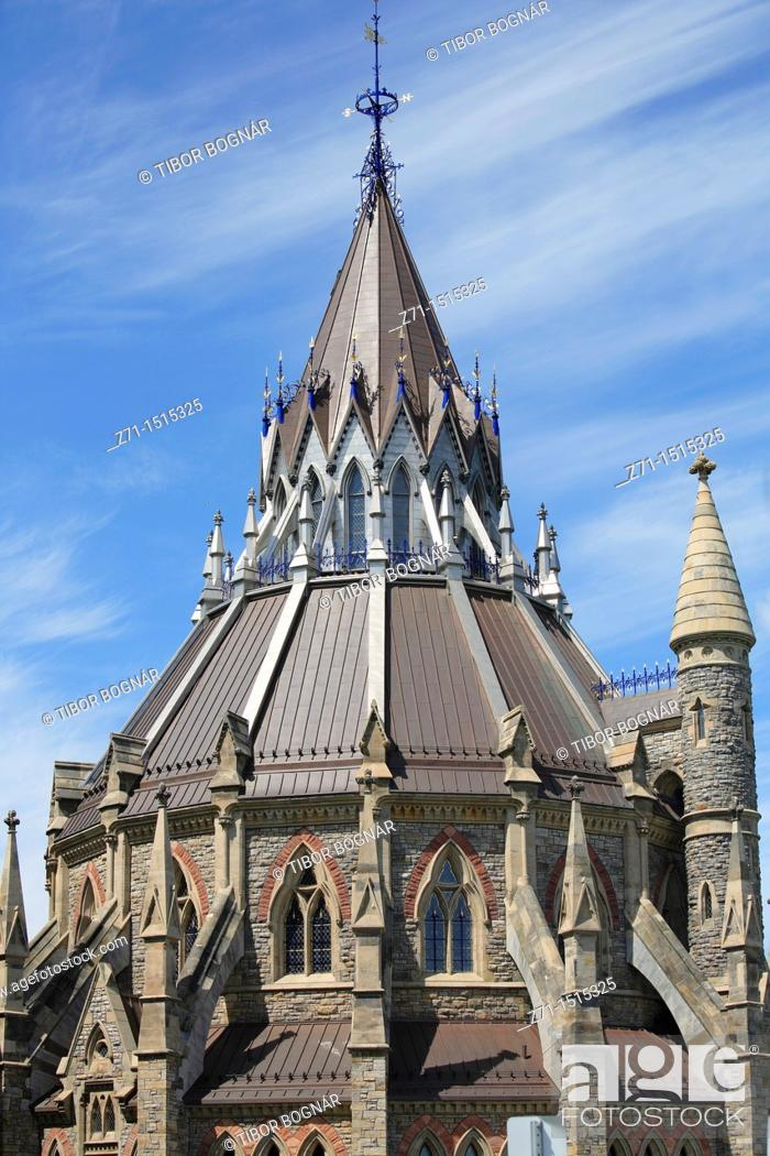 Stock Photo: Canada, Ontario, Ottawa, Parliament, Parliamentary Library.