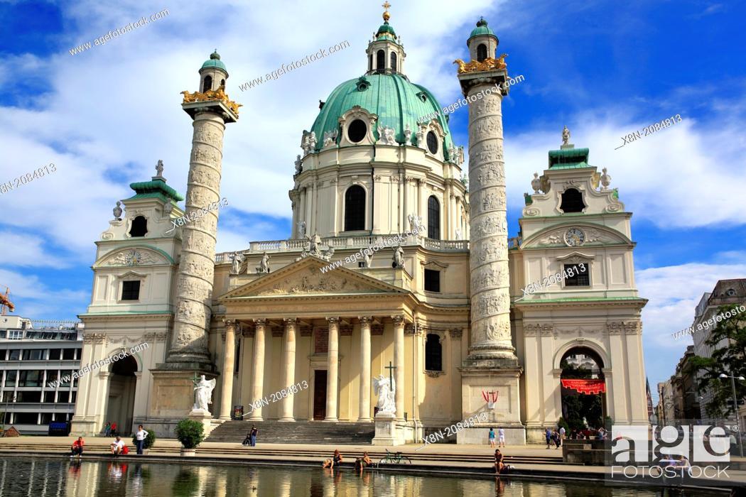 Stock Photo: Karlskirche (St. Charles's Church), Vienna, Austria.