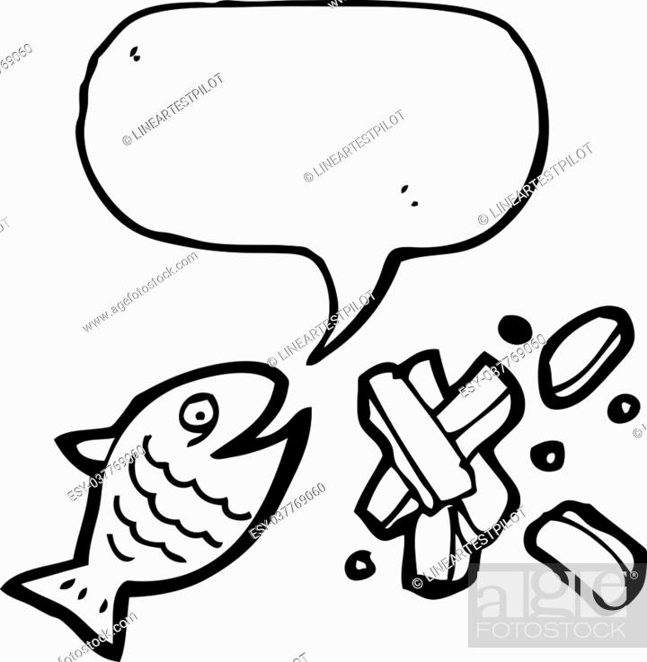 Fish And Chips Cartoon Stock Vector Vector And Low Budget Royalty