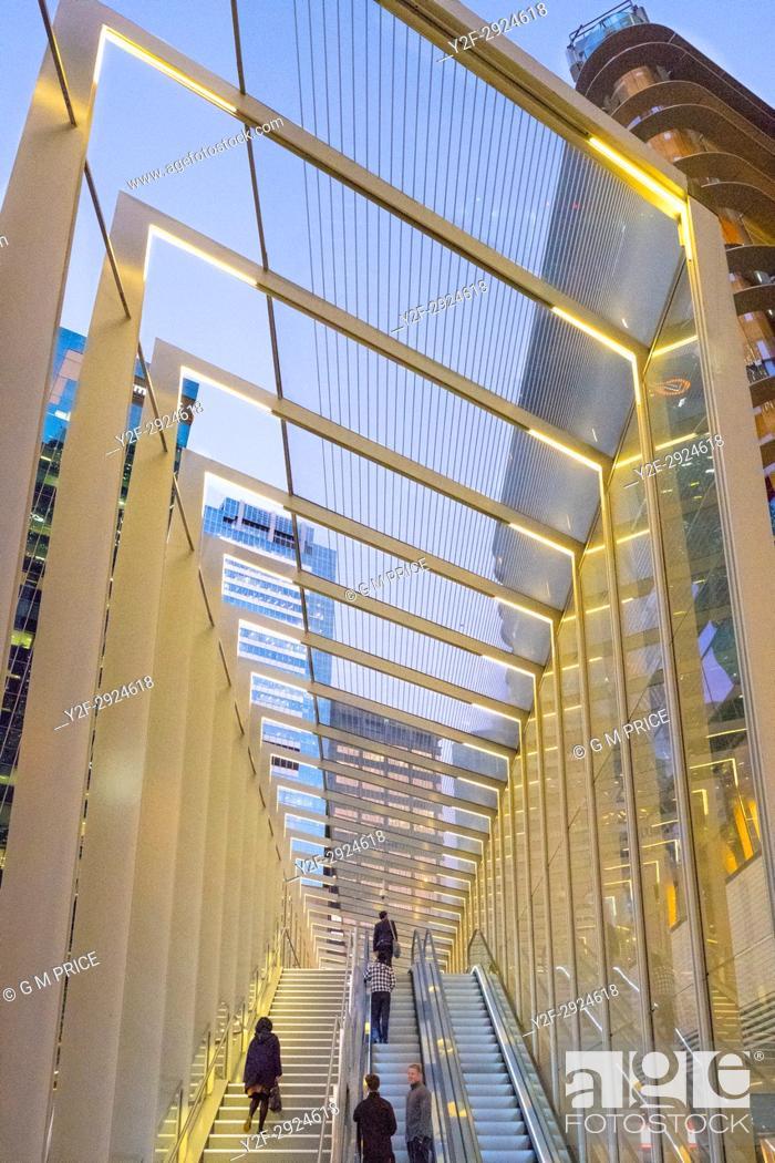 Stock Photo: modern architecture at Barangaroo, Sydney.