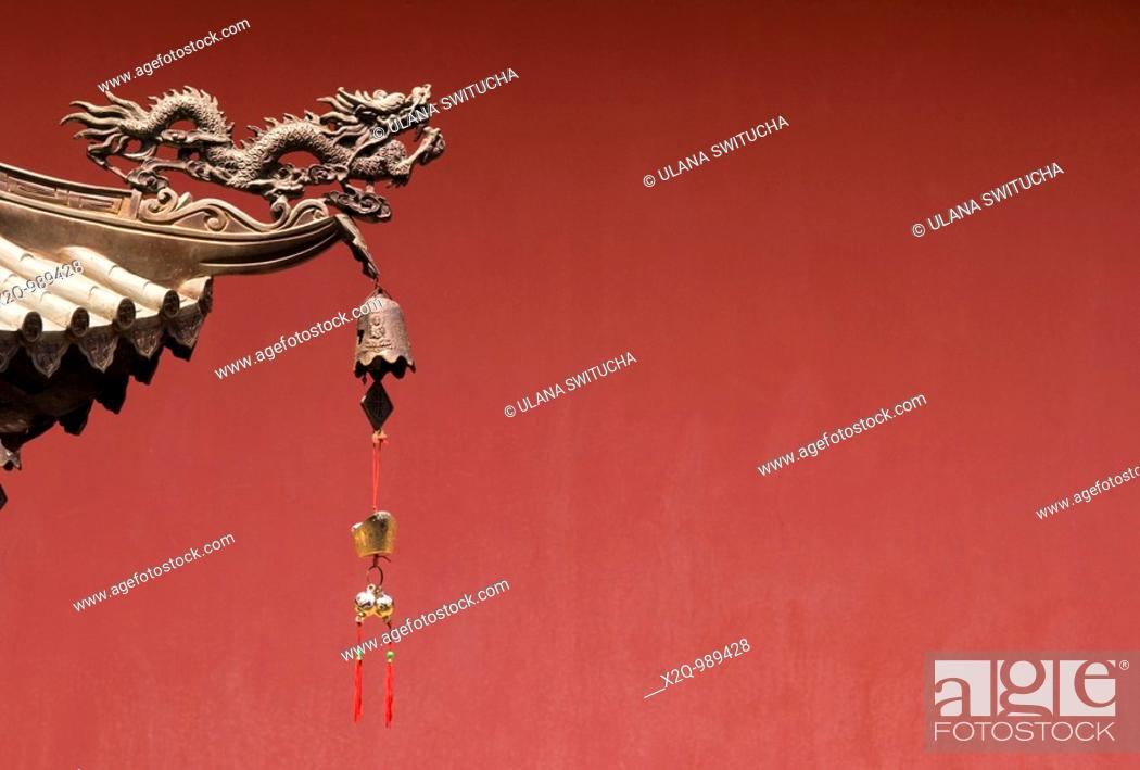 Stock Photo: Thian Hock Keng Hokkien Chinese temple in chinatown Singapore.