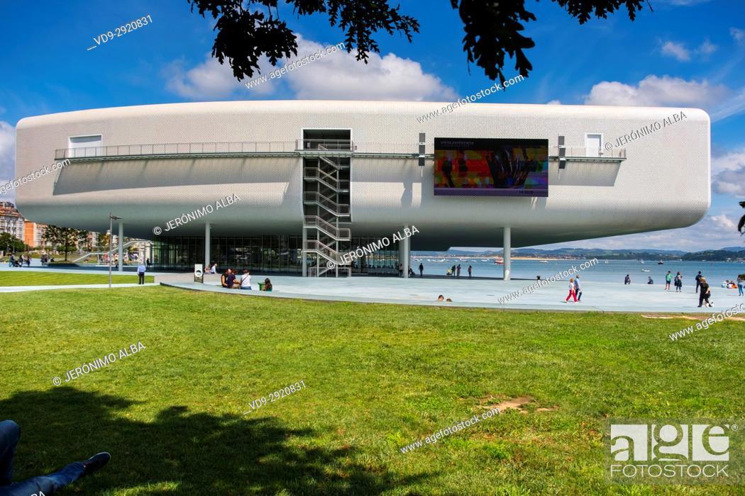 Stock Photo: Botin Center Museum Art and Culture. Botin Foundation, architect Renzo Piano. Santander, Cantabrian Sea, Cantabria, Spain, Europe.