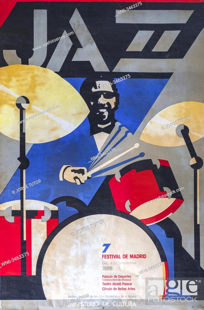 Imagen: 7 Festival Jazz Madrid, 1986 Musical concert poster.