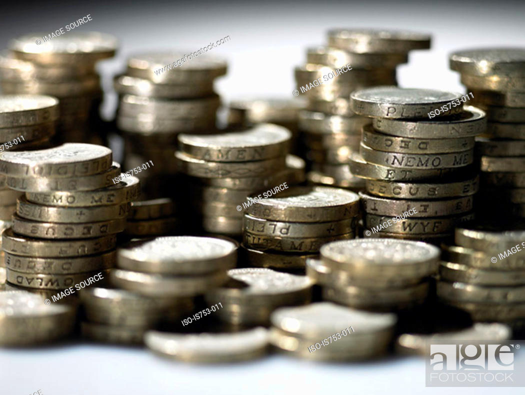 Stock Photo: Piles of pounds.