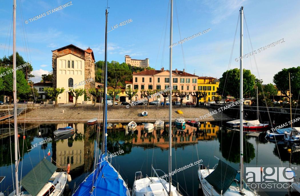 Stock Photo: Near Angera on the east coast of Lago Maggiore, Lombardia, Italy.
