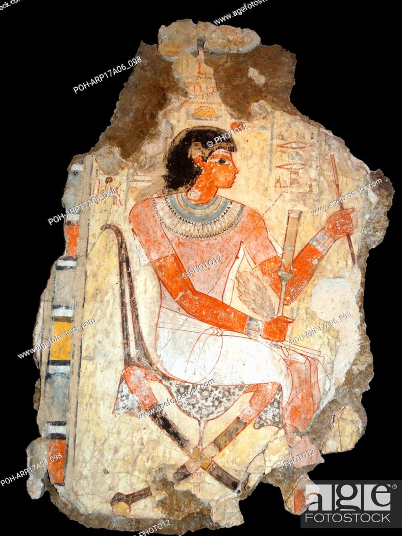 Stock Photo: 18th Dynasty Fresco, from the tomb of Nebamun, 1350-1370BC.