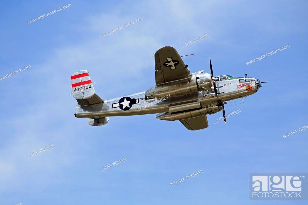 Stock Photo: B25 WW2 bomber aircraft.