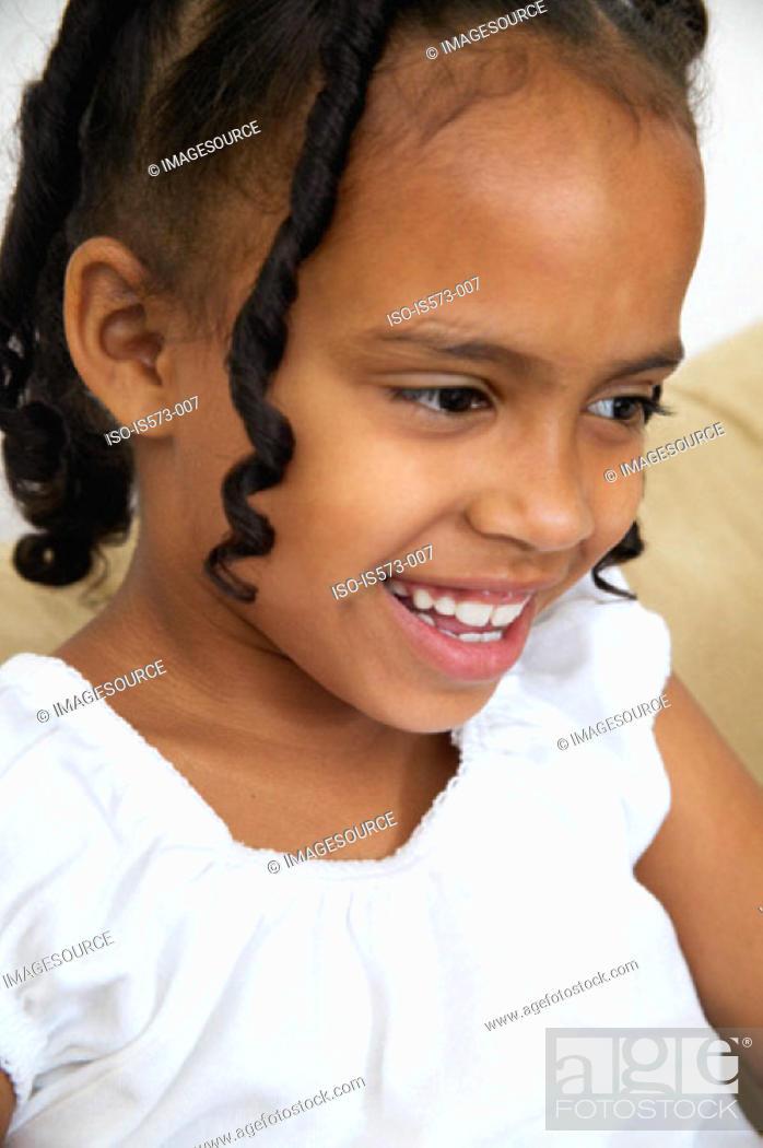 Stock Photo: Smiling girl.