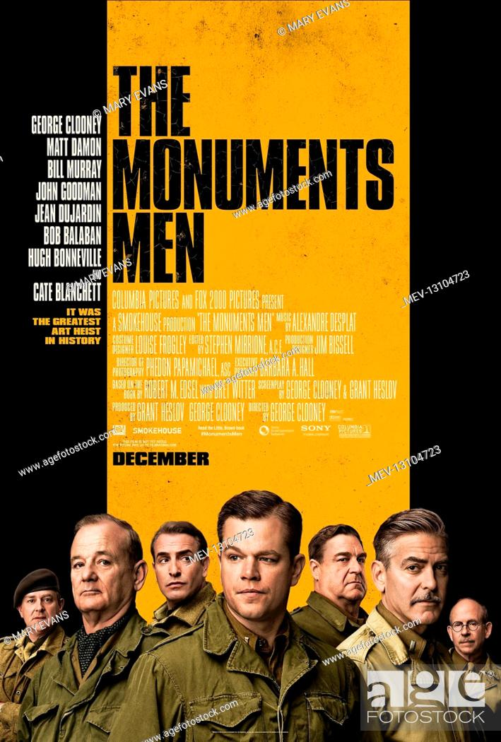Stock Photo: Movie Poster Film: The Monuments Men (USA/DE 2014) Director: George Clooney 04 February 2014.