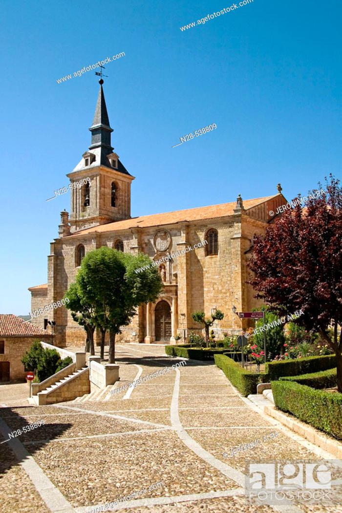 Stock Photo: San Pedro de Lerma church. Burgos province. Castilla y Leon. Spain.