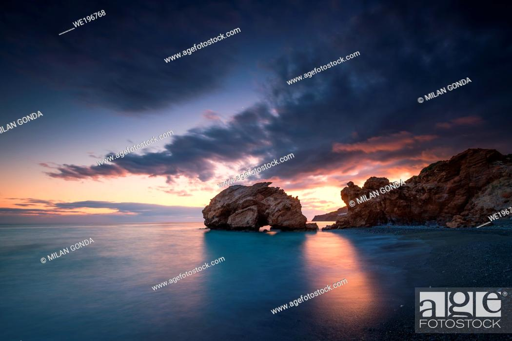 Stock Photo: Sea stack at Tersta village in southern Crete. .