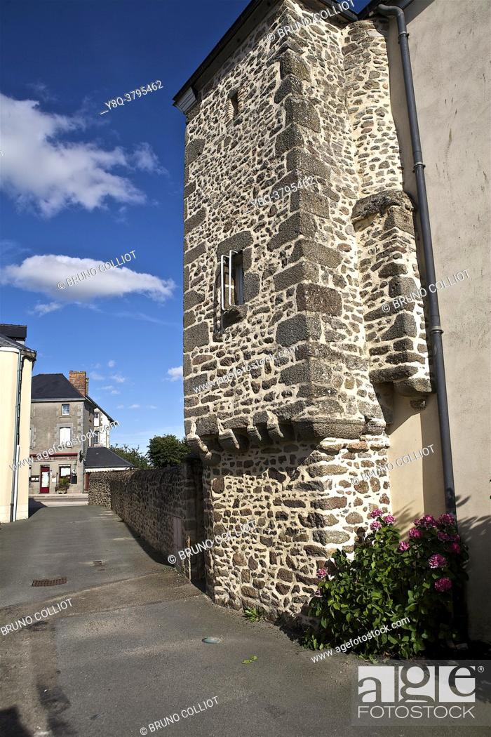 Stock Photo: architecture and heritage of jublains, mayenne, france.