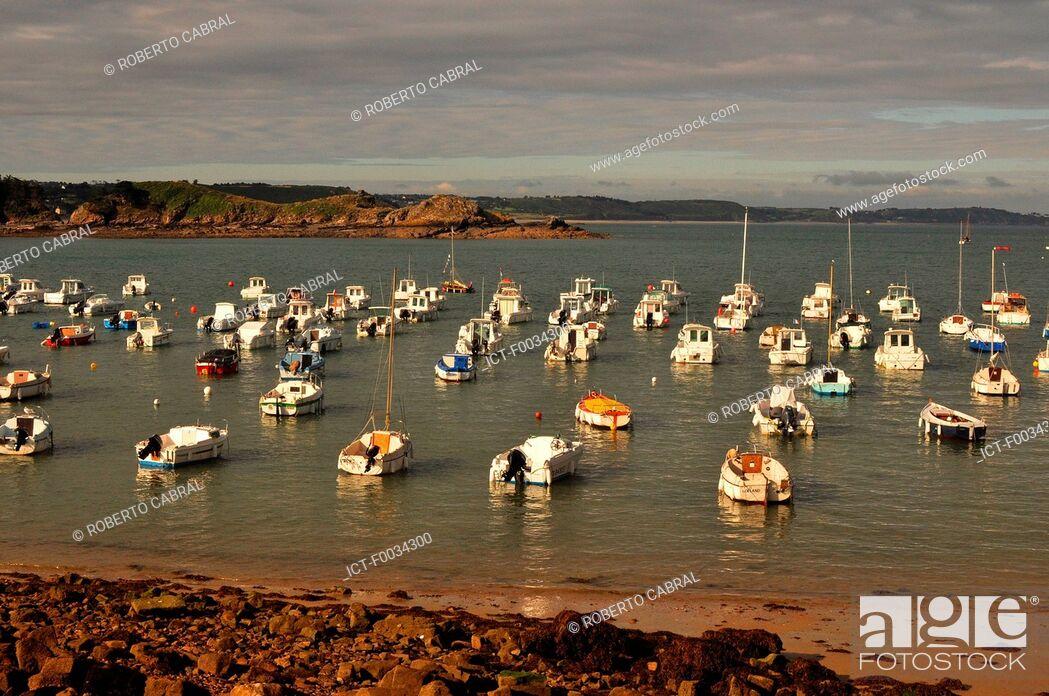 Stock Photo: France, Brittany, Erquy.