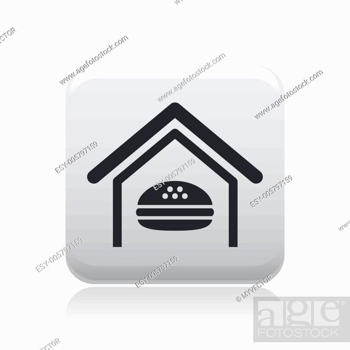 Stock Vector: Vector illustration of isolated fast-food icon.