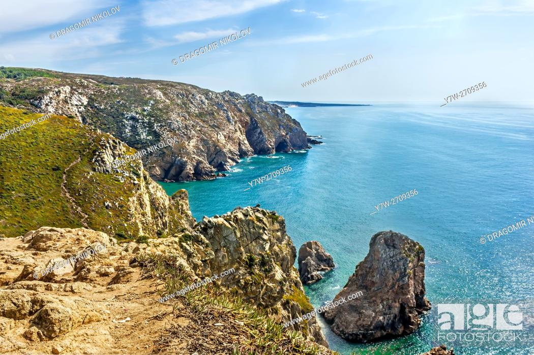 Imagen: View from Cabo Da Roca, the western point of continental Europe, Portugal.