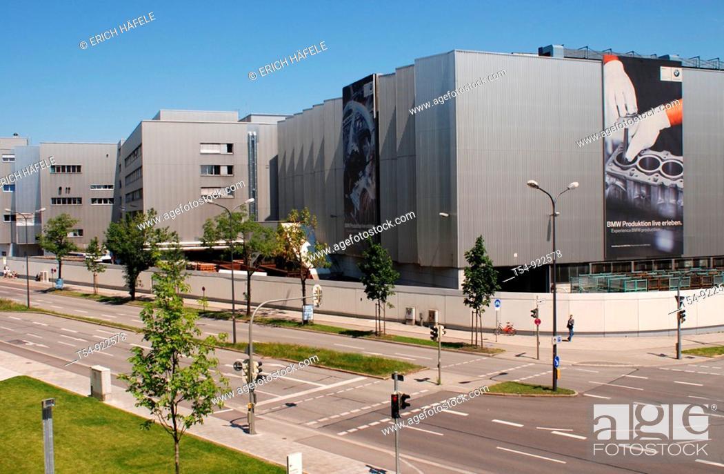 Stock Photo: BMW Carfactory in Munich.