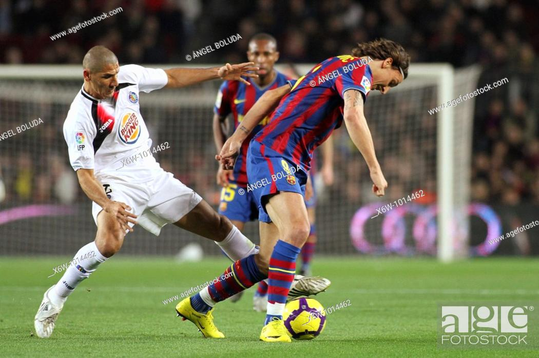 Stock Photo: Barcelona, Camp Nou Stadium, 06/02/2010, Spanish League, FC Barcelona vs. Getafe CF, Zlatan Ibrahimovic.