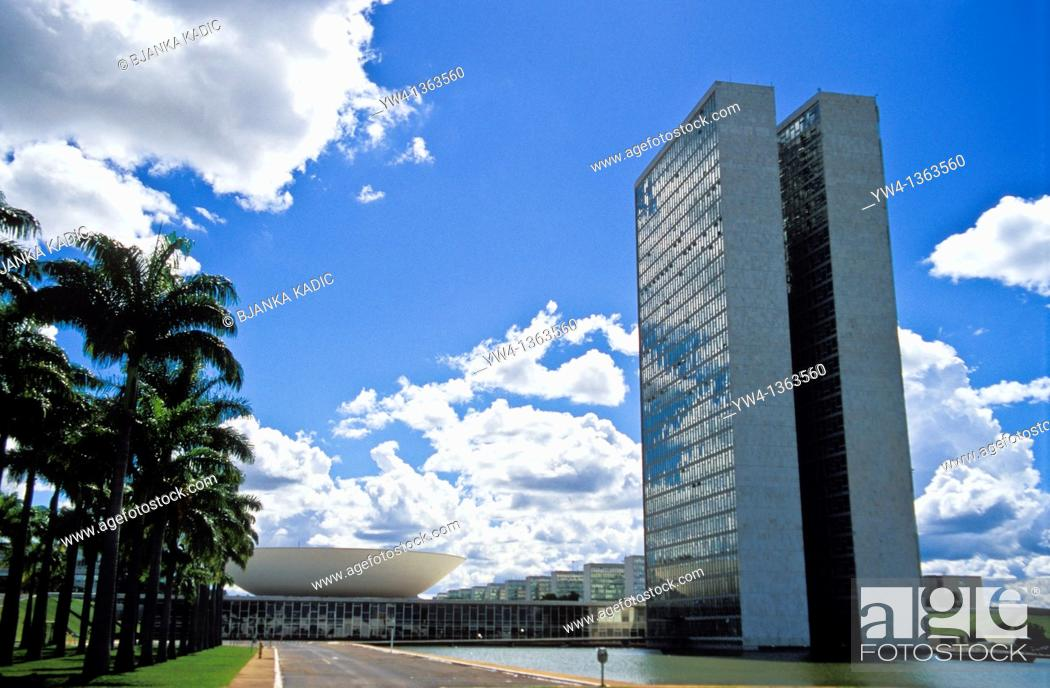 Stock Photo: National Congress, Brasilia, Brazil.