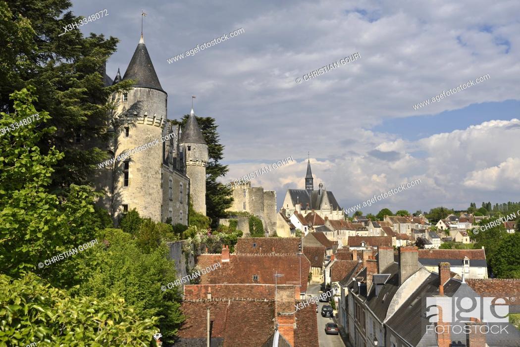 Stock Photo: Chateau of Montresor, Touraine, department of Indre-et-Loire, Centre-Val de Loire region, France, Europe.