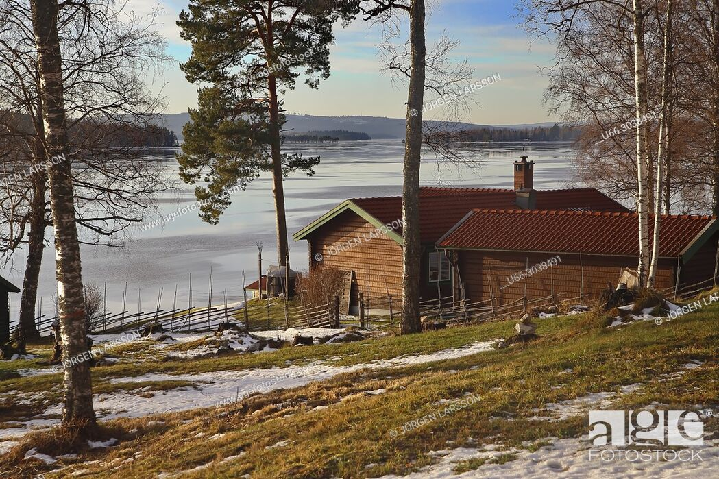 Stock Photo: Late winter at Ludvika, Dalarna, Sweden.