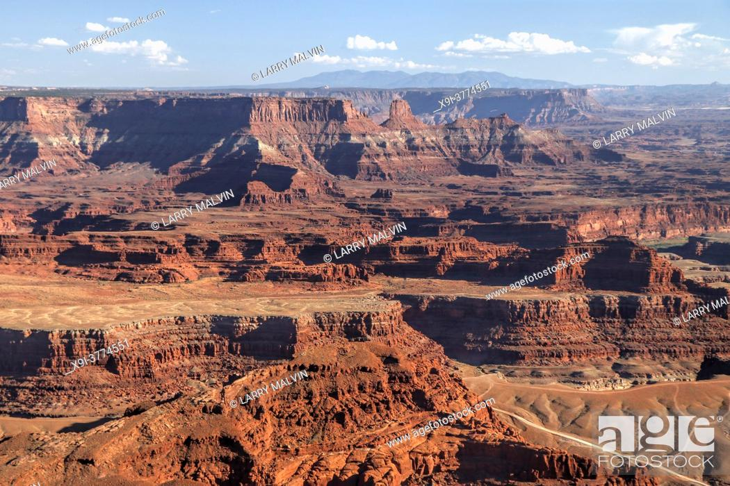 Stock Photo: Late afternoon view in Dead Horse Point State Park near Canyonlands National Park, Utah.