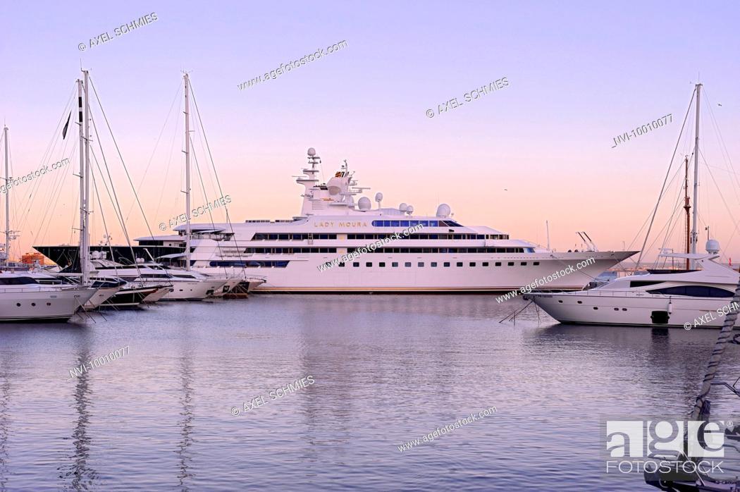 Luxury Yacht Lady Moura Marina Palma De Majorca Majorca Balearic