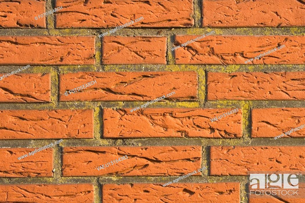 Stock Photo: Brick, Brick Wall, Close-Up, Design, Full Frame.