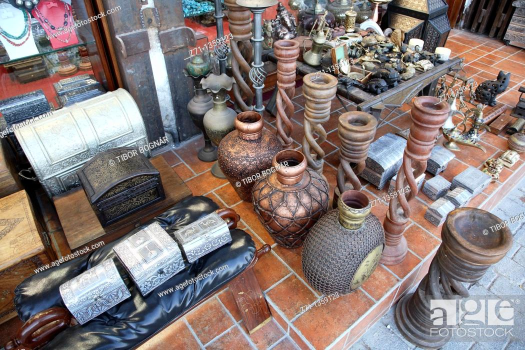 Handicrafts In The Souq Mutrah Muscat Oman Stock Photo Picture