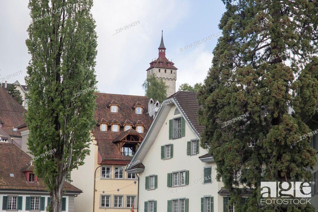 Stock Photo: Cityscape in Luzern on April 18, 2017 Switzerland.