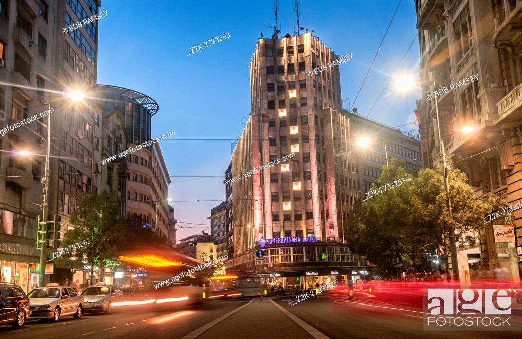 Stock Photo: Long exposure street photography in Belgrade.