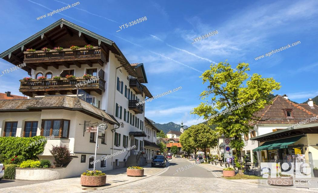 Stock Photo: Ruhpolding in Bavaria, Germany, Europe.