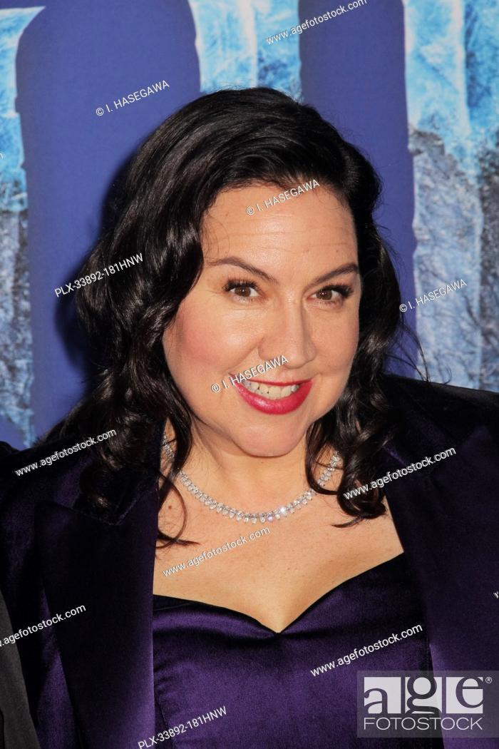 """Stock Photo: Kristen Anderson-Lopez 11/07/2019 The World Premiere of """"""""Frozen 2"""""""" held at the Dolby Theatre in Los Angeles, CA. Photo by I."""