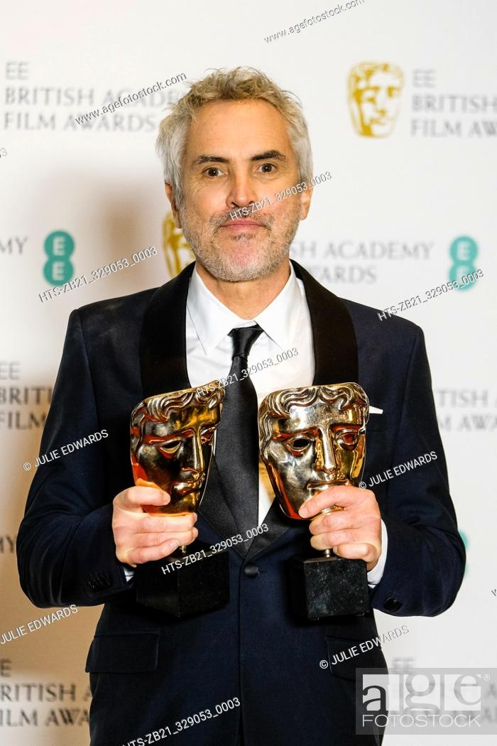 Stock Photo: Alfonso Cuarón poses backstage at the British Academy Film Awards on Sunday 10 February 2019 at Royal Albert Hall, London.