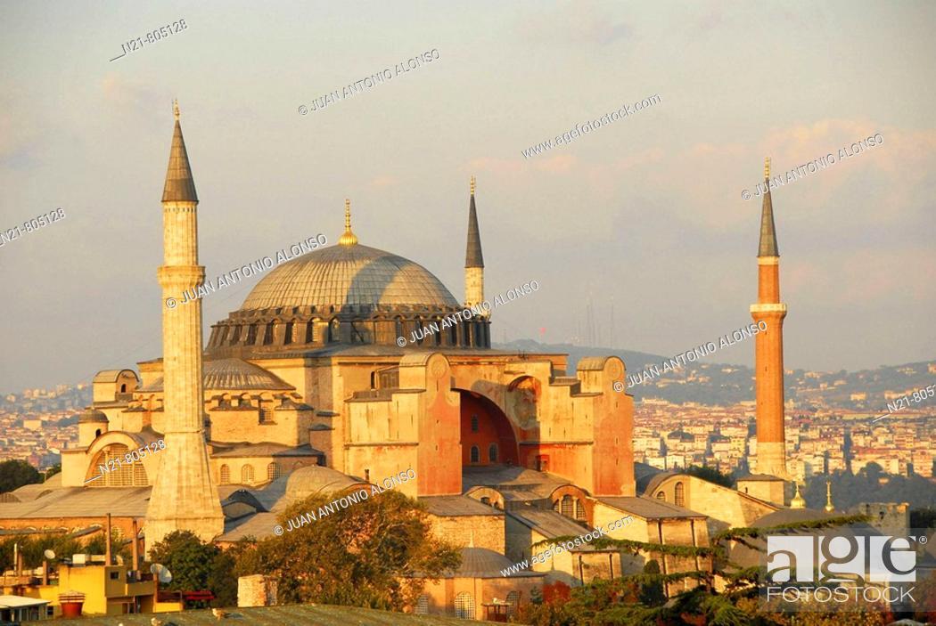 Stock Photo: Ayasofya, Sultanahmet, Istanbul, Turkey.