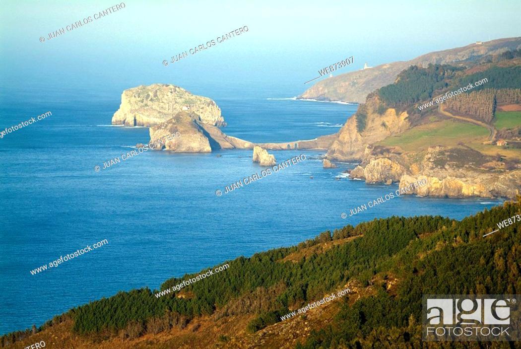 Stock Photo: Views of San Juan de Gaztelugatxe. Biscay. Basque Country. Spain.