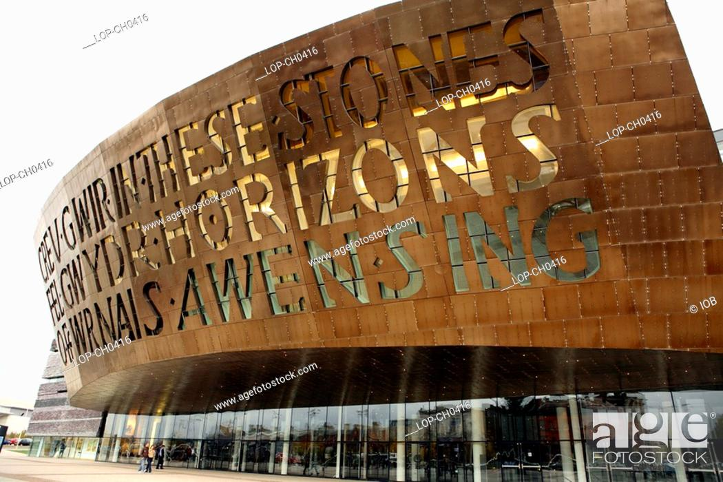 Stock Photo: The Wales Millennium Centre in Cardiff Bay. Home of the Welsh National Opera, the area was previously known as Tiger Bay.