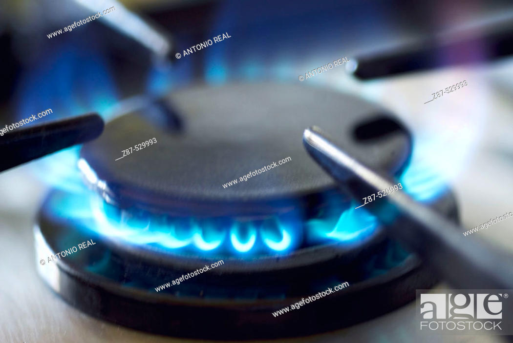 Stock Photo: Gas burner.